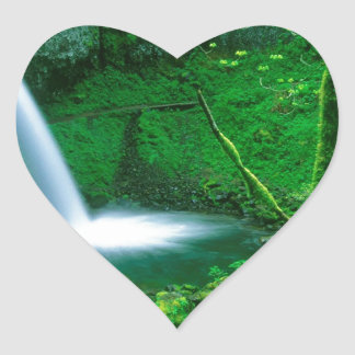 Waterfall Ponytail Columbia Gorge Heart Sticker