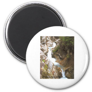 Waterfall Pool Nature Mt Rainier National Park 2 Inch Round Magnet