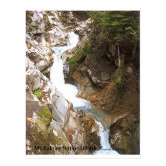 Waterfall Pool Nature Mt Rainier National Park Postcards