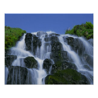 Waterfall, Portree, Isle of Skye, Highlands, Poster
