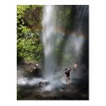 waterfall postcard