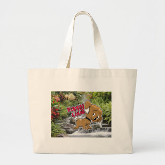 Waterfall, puppy02sp6 large tote bag