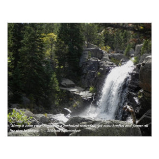 Waterfall Quotes Poster