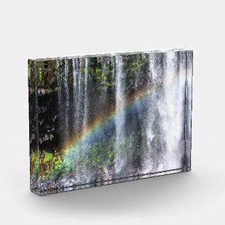 Waterfall Rainbow, 5x7 Horizontal Acrylic Block