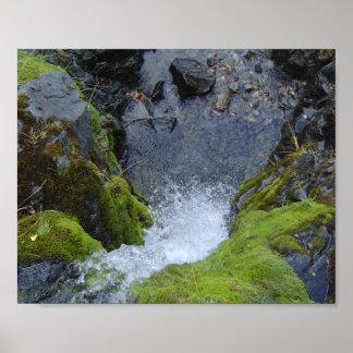 Waterfall refreshing poster