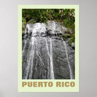 Waterfall Rio Grande, Puerto Rico Poster