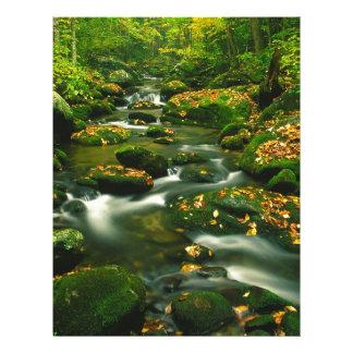 Waterfall Roaring Fork Smoky Mountian Custom Letterhead