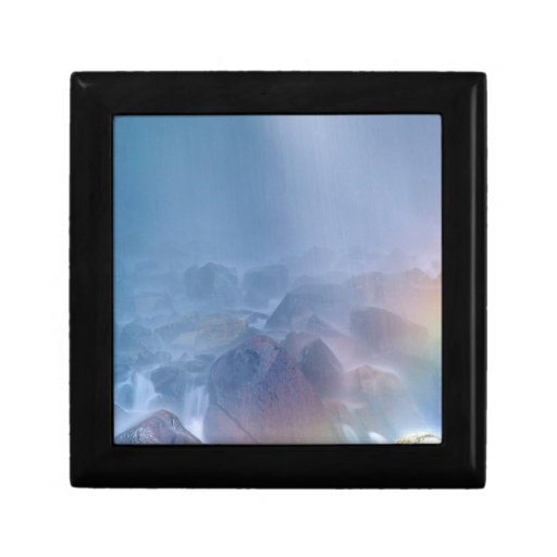 Waterfall Rock Soup Mt Rainier Park Trinket Boxes