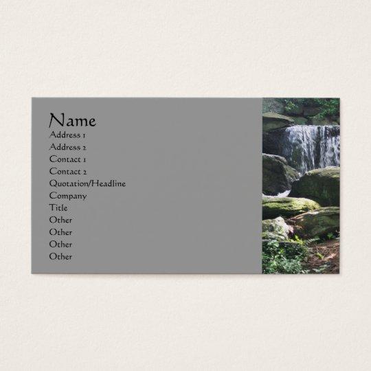 Waterfall Rocks Nature Photography Business Card