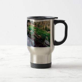 Waterfall Rushing Of Spring Teton Park Wyoming Coffee Mug