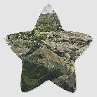 Waterfall Sandy Cliffs Heights Star Sticker