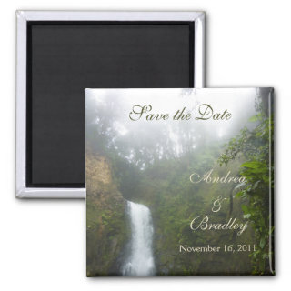 Waterfall Save the Date Magnet
