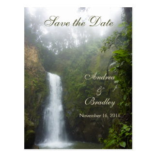 Waterfall Save the Date Postcard