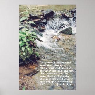 Waterfall Scripture Poster