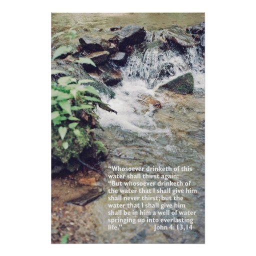 Waterfall Scripture Posters