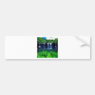Waterfall Secluded Kauai Bumper Sticker