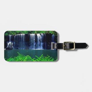 Waterfall Secluded Kauai Travel Bag Tags