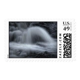 waterfall serenade postage stamp