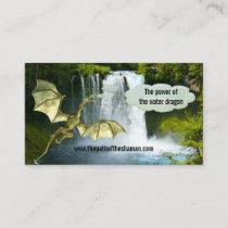 Waterfall Shaman Water Dragon Business Card
