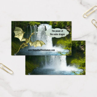 Waterfall Shaman Water Dragon Business Card