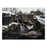 Waterfall Snow Poster