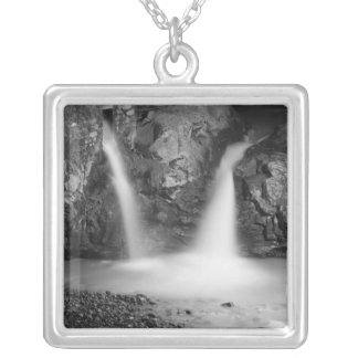 Waterfall Square Pendant Necklace