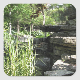 Waterfall Square Sticker