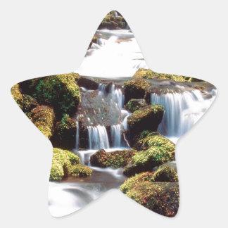 Waterfall Three Sisters Wilderness Willamette Star Sticker