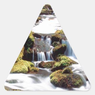 Waterfall Three Sisters Wilderness Willamette Triangle Sticker