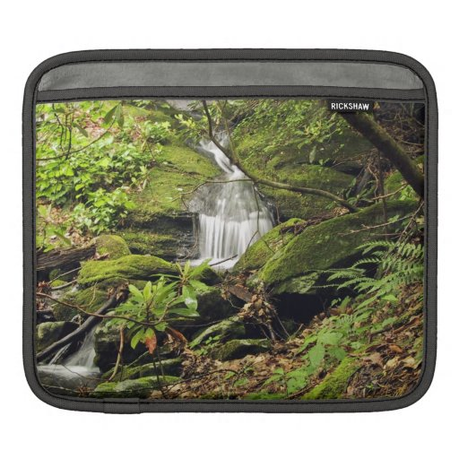Waterfall through fern trees sleeves for iPads