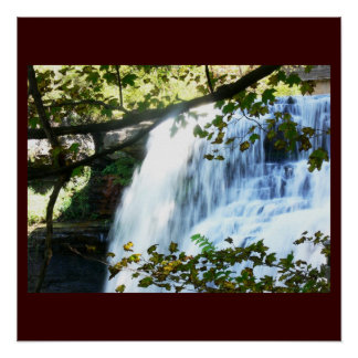 Waterfall Tropical Green Nature Name Personalize Perfect Poster