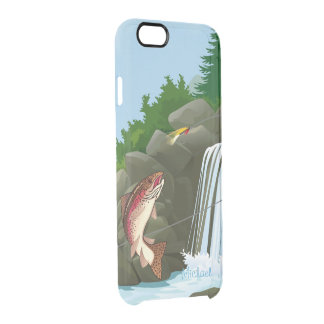 Waterfall Trout Fly Fishing Clear iPhone 6/6S Case