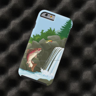 Waterfall Trout Fly Fishing Tough iPhone 6 Case