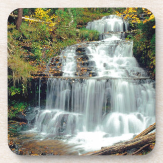 Waterfall Wagner Alger County Michigan Drink Coaster