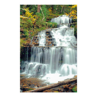 Waterfall Wagner Alger County Michigan Stationery Paper
