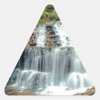 Waterfall Wagner Alger County Michigan Triangle Sticker