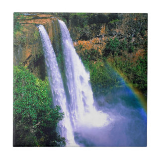 Waterfall Wailua Kauai Hawaii Ceramic Tile