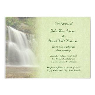 Waterfall Wedding Card