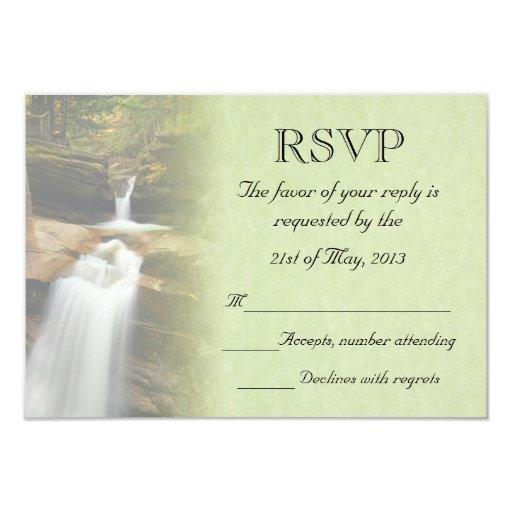 Waterfall Wedding RSVP Invitations