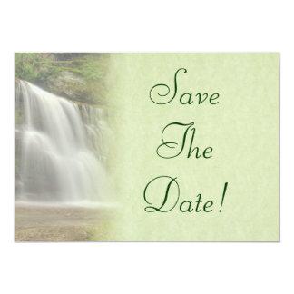 Waterfall Wedding Save The Date Card