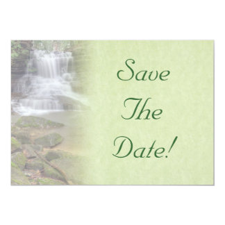 Waterfall Wedding Save The Date Personalized Announcements