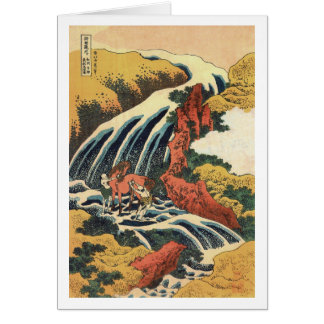 Waterfall where Yoshitsune Washed his Horse Card