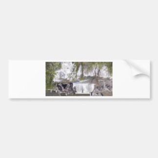 Waterfall with Branches Bumper Sticker