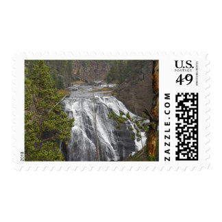 Waterfall, Yellowstone National Park Postage Stamp