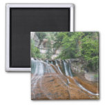Waterfall, Zion National Park, Utah, USA 2 Inch Square Magnet