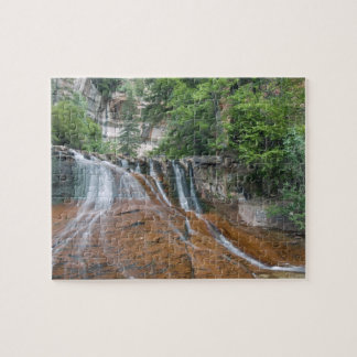 Waterfall, Zion National Park, Utah, USA Jigsaw Puzzle