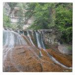 Waterfall, Zion National Park, Utah, USA Large Square Tile