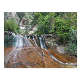 Waterfall, Zion National Park, Utah, USA Postcard