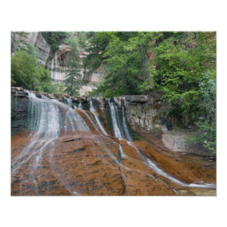 Waterfall, Zion National Park, Utah, USA Poster