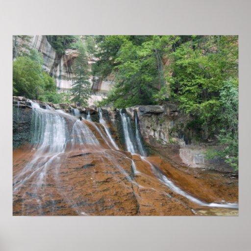 Waterfall, Zion National Park, Utah, USA Poster